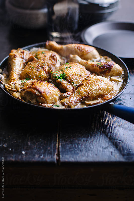 Coq au riesling. by Darren Muir for Stocksy United
