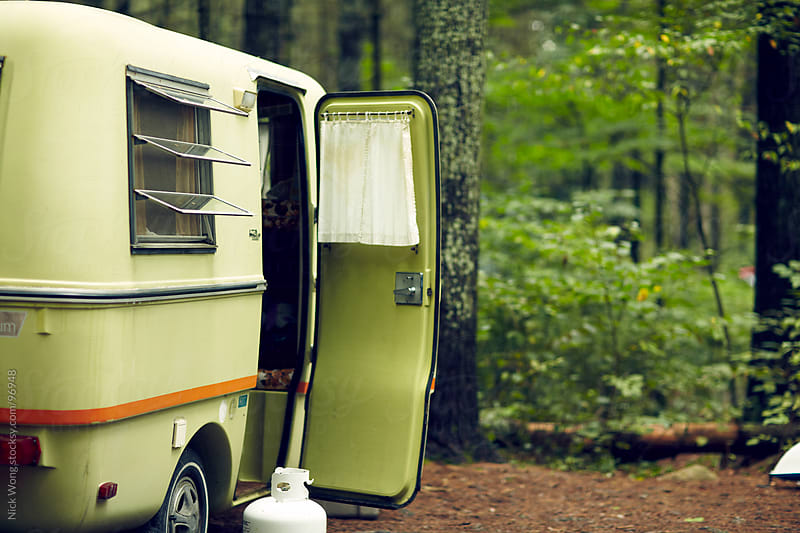 Vintage Trailer camping by Nick Wong for Stocksy United