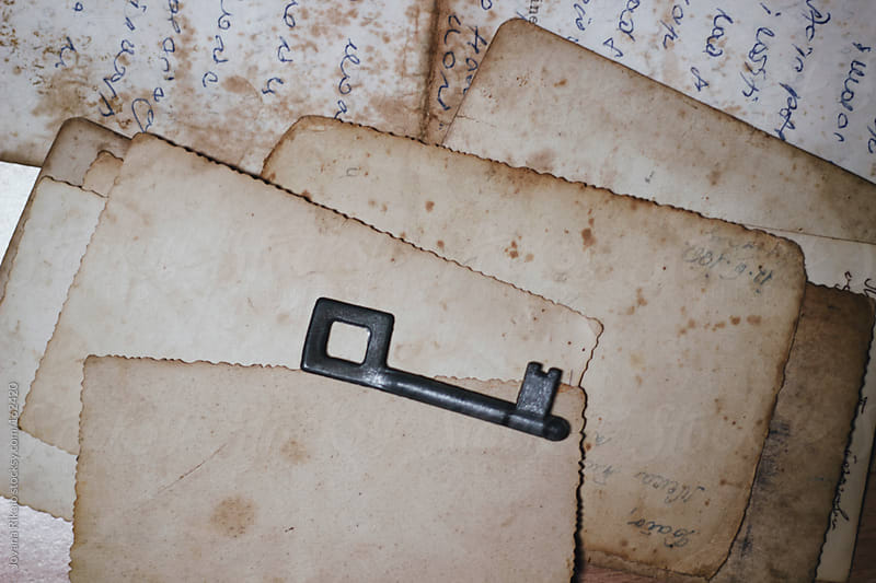 Old key on an old letters by Jovana Rikalo for Stocksy United