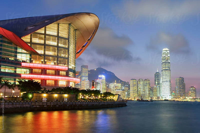 Asia, China, Hong Kong city skyline and financial district in the background. by Gavin Hellier for Stocksy United