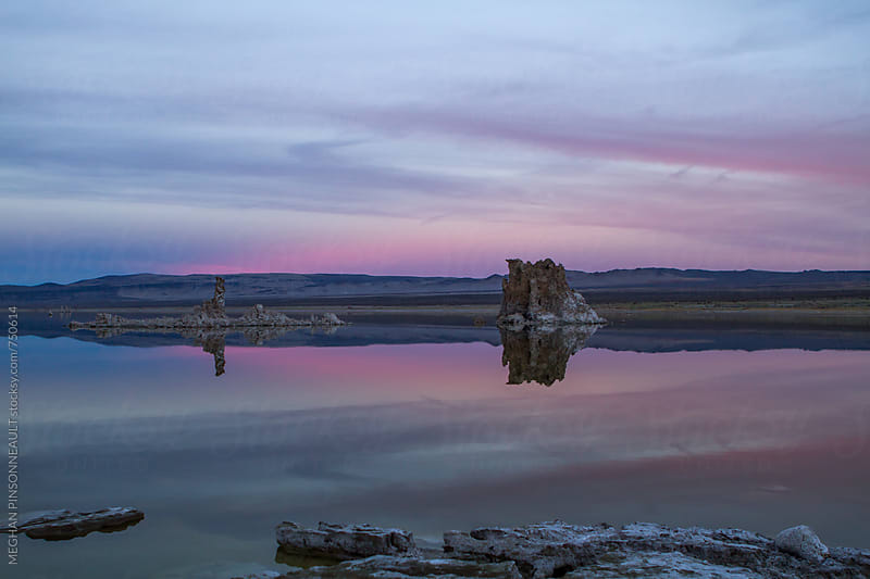 Stunning Sunset over an Ancient Salt Lake by MEGHAN PINSONNEAULT for Stocksy United