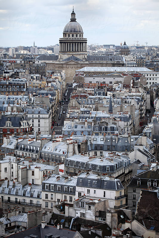 Looking Across The Rooftops Of Paris France by ALICIA BOCK for Stocksy United