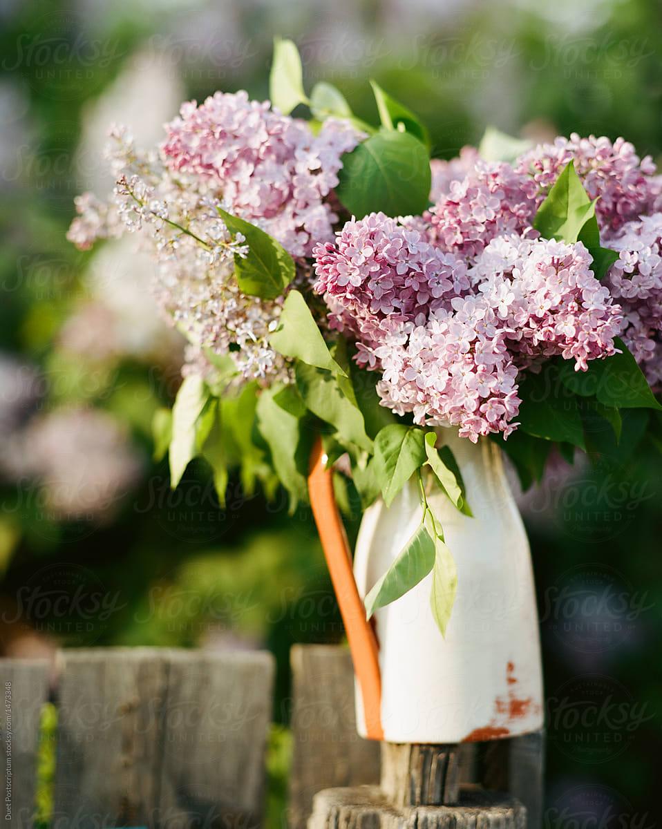 Vase With Rustic Flowers By Duet Postscriptum Bouquet Flower Stocksy United