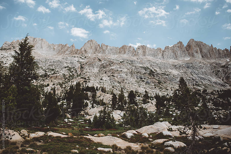 Jagged mountain range by Jacki Potorke for Stocksy United