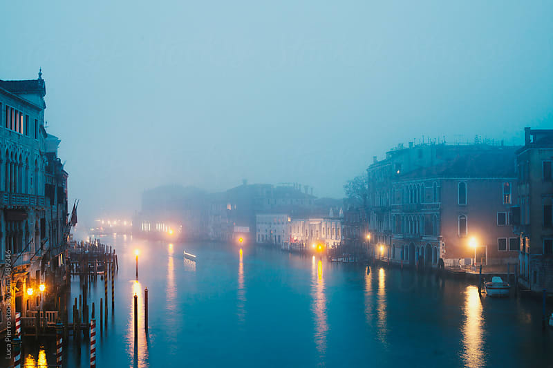 Venice, Grand Canal at dusk by Luca Pierro for Stocksy United