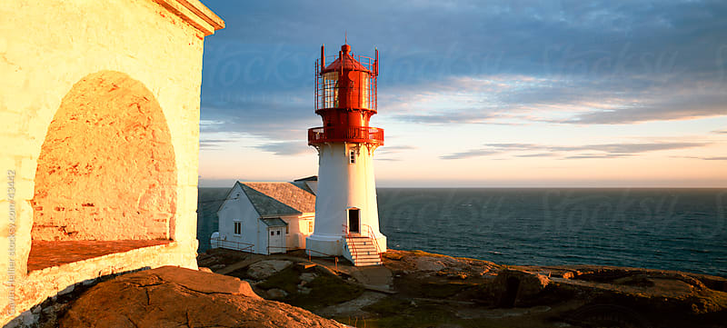Lindesnes Fyr lighthouse, on south coast, southernmost point of Norway, Norway, Scandinavia, Europe by Gavin Hellier for Stocksy United