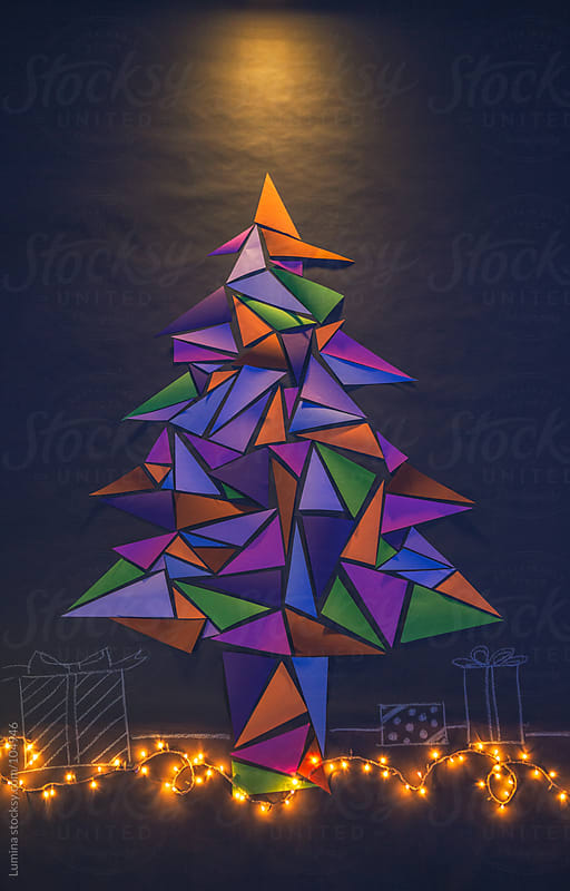 Mosaic Christmas Tree by Lumina for Stocksy United