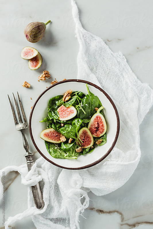 Vegan fig salad by Tatjana Ristanic for Stocksy United