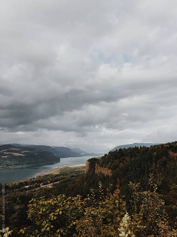 View of the Columbia River Gorge by KATIE + JOE for Stocksy United