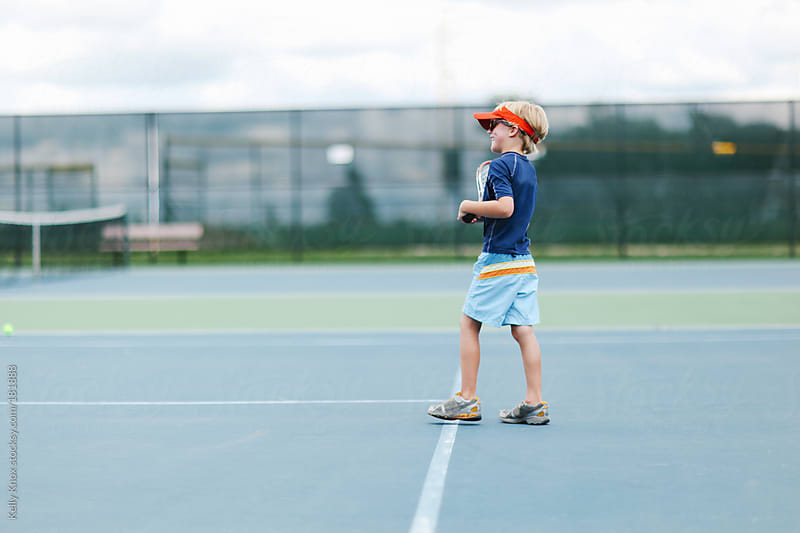 young tennis player by Kelly Knox for Stocksy United