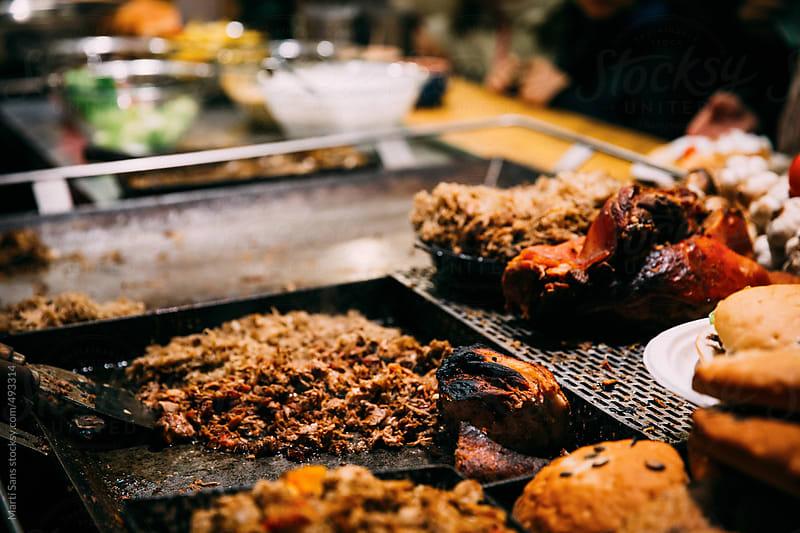 Chopped pork meat by Martí Sans for Stocksy United