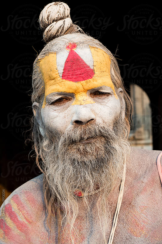 Portrait of a Holy Man on a temple by Bisual Studio for Stocksy United