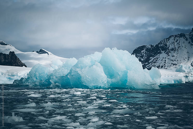 Antarctica Lemaire Channel snowy mountain by unite images for Stocksy United