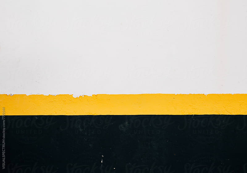 White Yellow Black Wall Background by Julien L. Balmer for Stocksy United