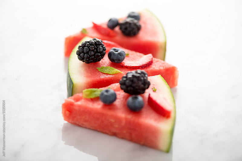 Watermelon Pizza Slices by Jeff Wasserman for Stocksy United