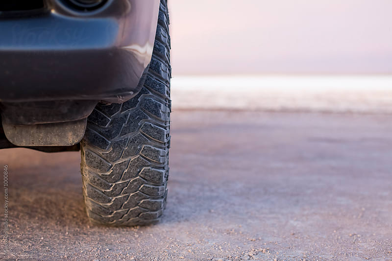 Detail of a Tire of a Offroad car by Mauro Grigollo for Stocksy United