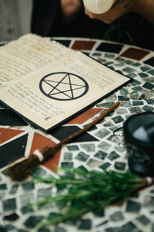 a page from a book of shadows or spell book. by kkgas for Stocksy United