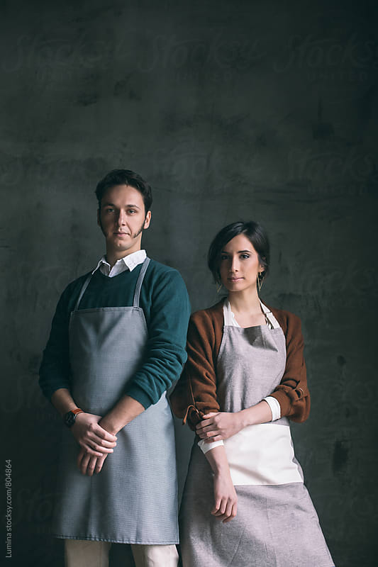 Bakery Owners' Portrait by Lumina for Stocksy United