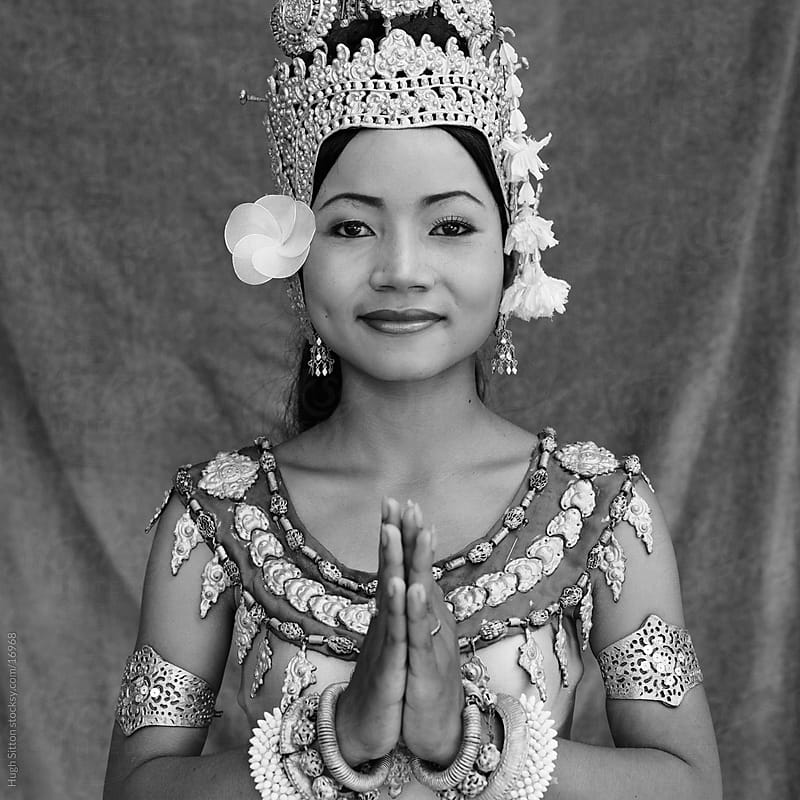 Portrait of traditional Cambodian dancer. Angkor Wat.Cambodia  by Hugh Sitton for Stocksy United