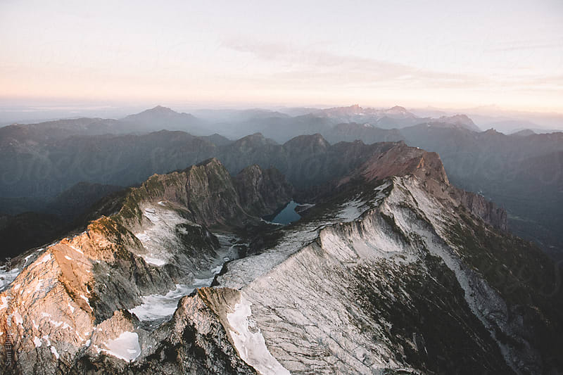 Sunrise over the mountains by Sam Elkins for Stocksy United