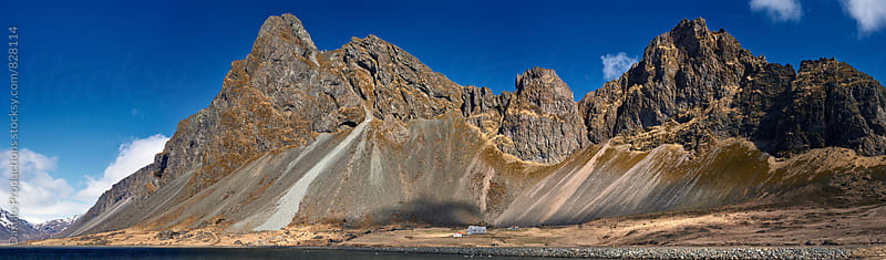 Dramatic mountain landscape in iceland by Daxiao Productions for Stocksy United