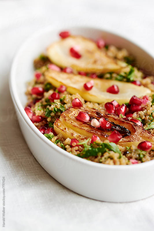 Fennel, pomegranate, Quinoa Salad by Harald Walker for Stocksy United