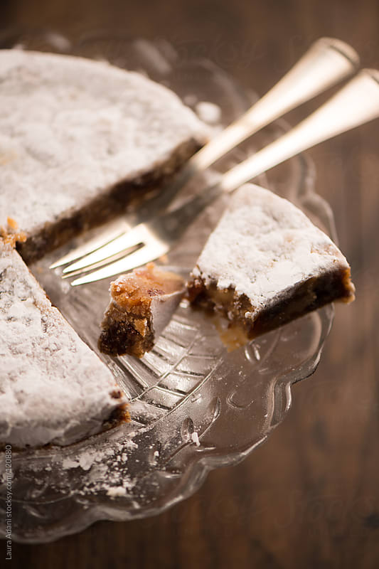 A slice of Panforte from Siena  by Laura Adani for Stocksy United