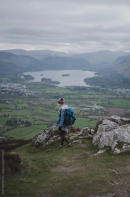 Walking in the hills by Neil Warburton for Stocksy United