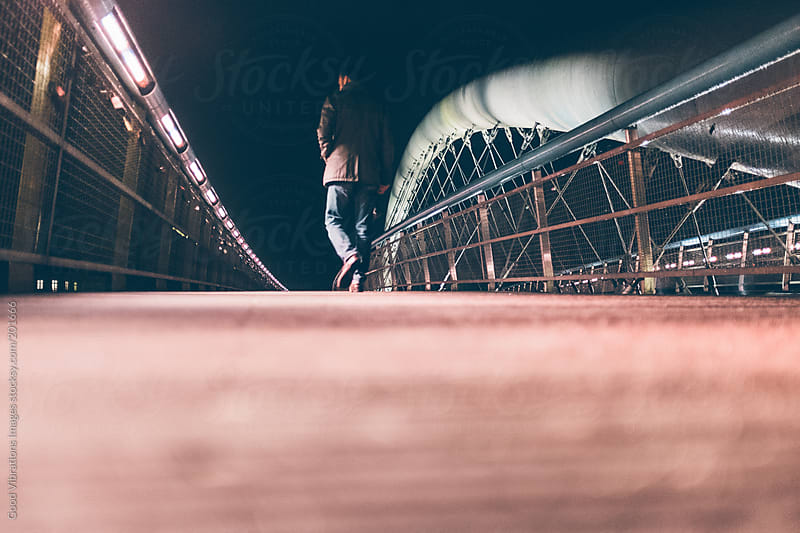 Man on a Bridge by Good Vibrations Images for Stocksy United