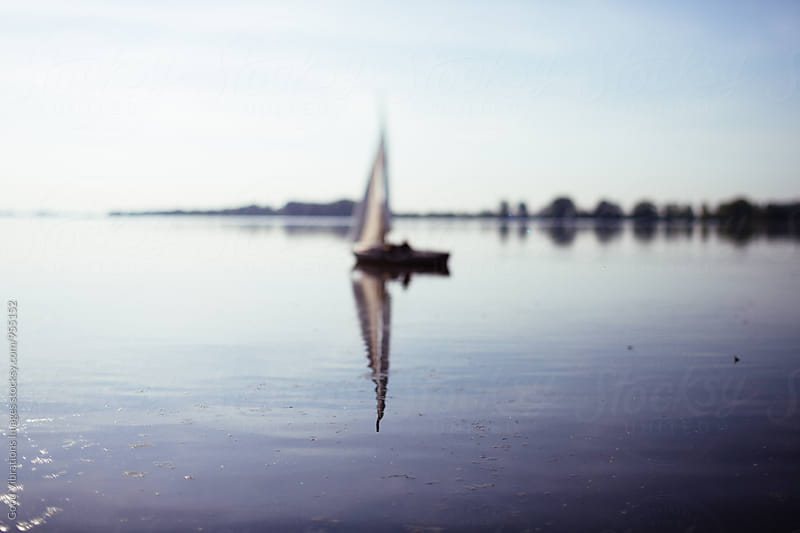 Sailing boat, tilt shift lens by Good Vibrations Images for Stocksy United
