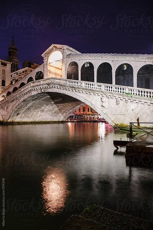 Rialto Bridge (Ponte Rialto) on Canal Grande in Venice by Alberto Bogo for Stocksy United