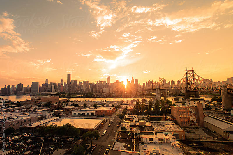 New York City Skyline and Rooftops - Sunset by Vivienne Gucwa for Stocksy United