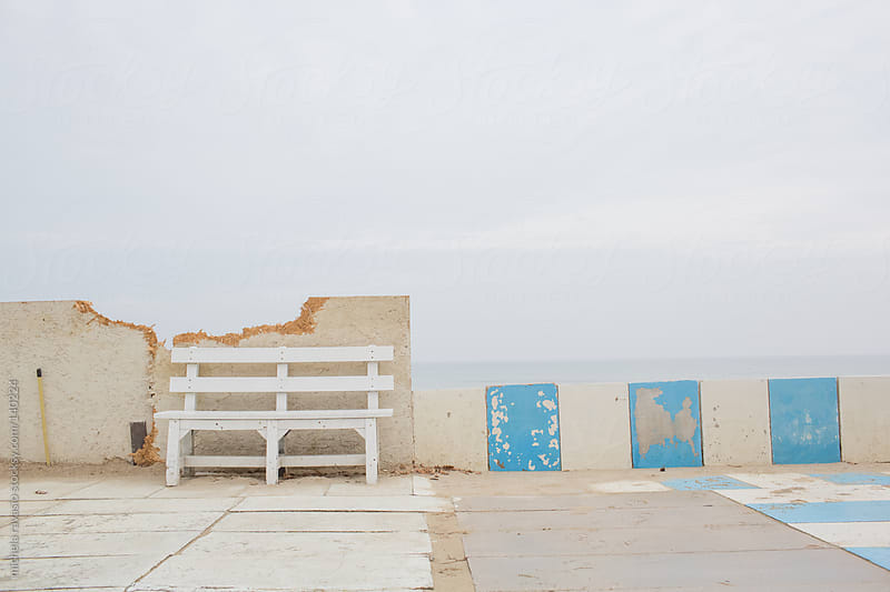 Bench along the sea by michela ravasio for Stocksy United