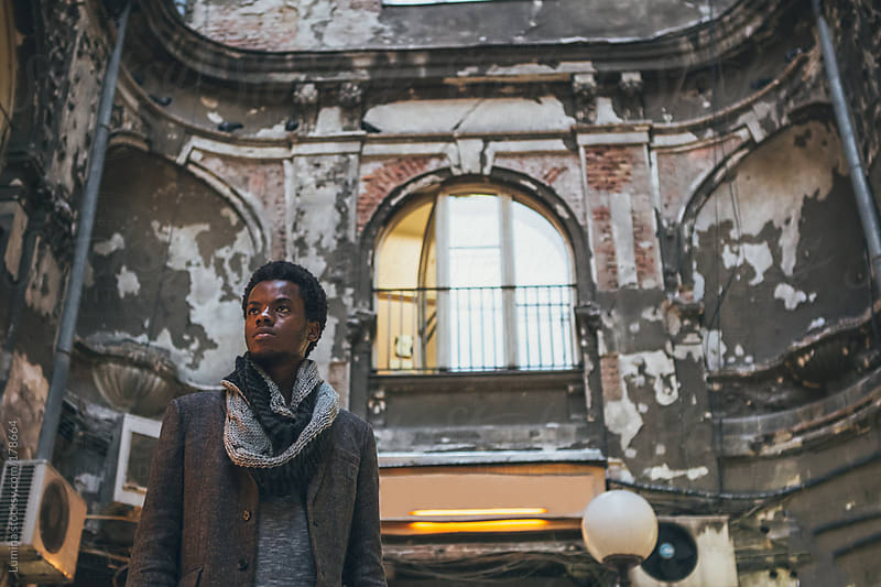 Young African Man Outdoors by Lumina for Stocksy United