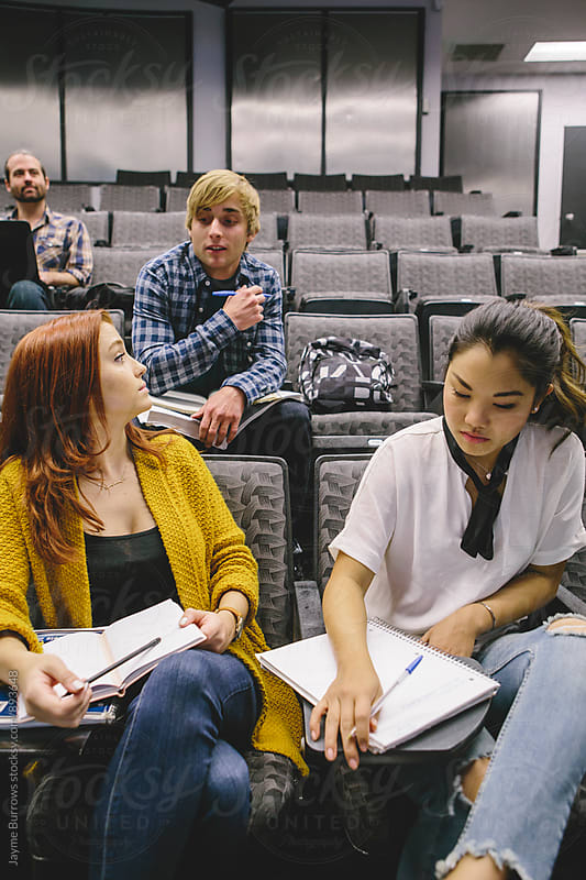 Students in Lecture Hall by Jayme Burrows for Stocksy United