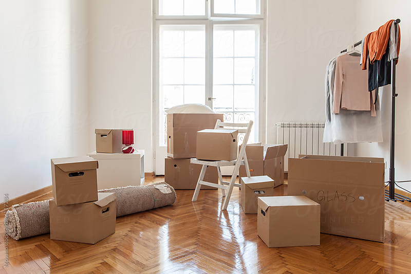 Boxes in a New House by Mosuno for Stocksy United