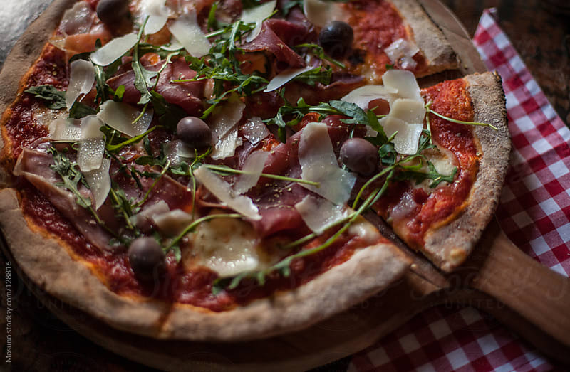 Fresh Made Prosciutto Crudo Pizza by Mosuno for Stocksy United