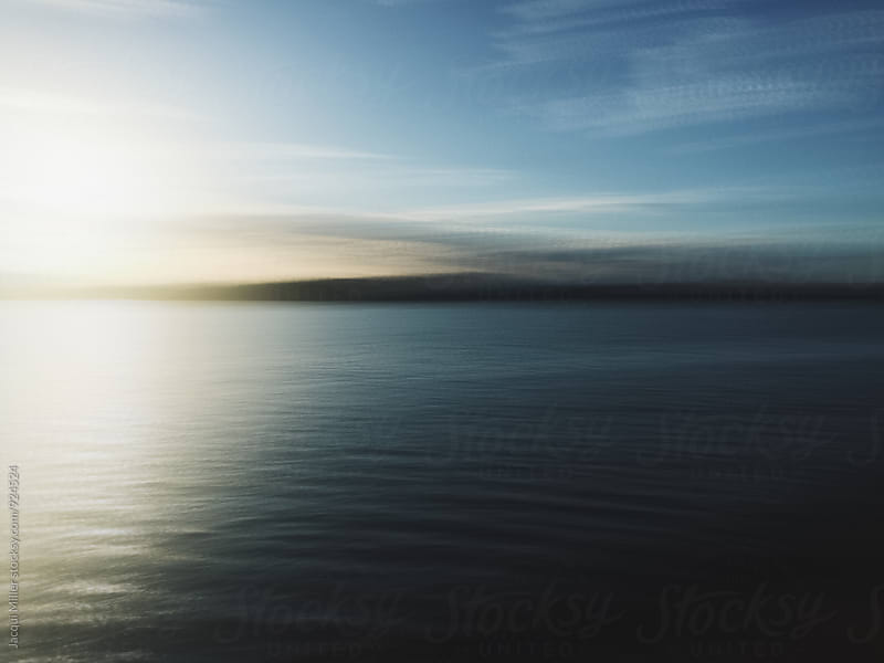 Motion shot of river at sunrise  by Jacqui Miller for Stocksy United