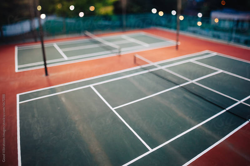 Tennis court outdoors by Good Vibrations Images for Stocksy United