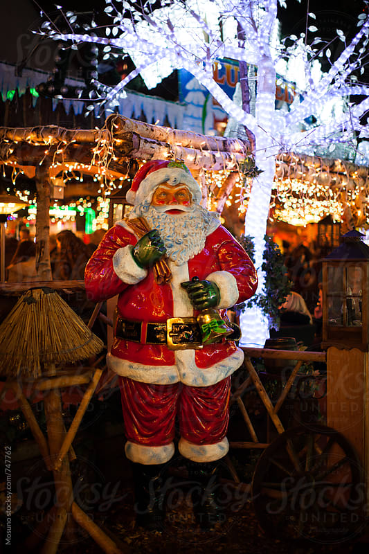 Santa Claus on Christmas Market by Mosuno for Stocksy United