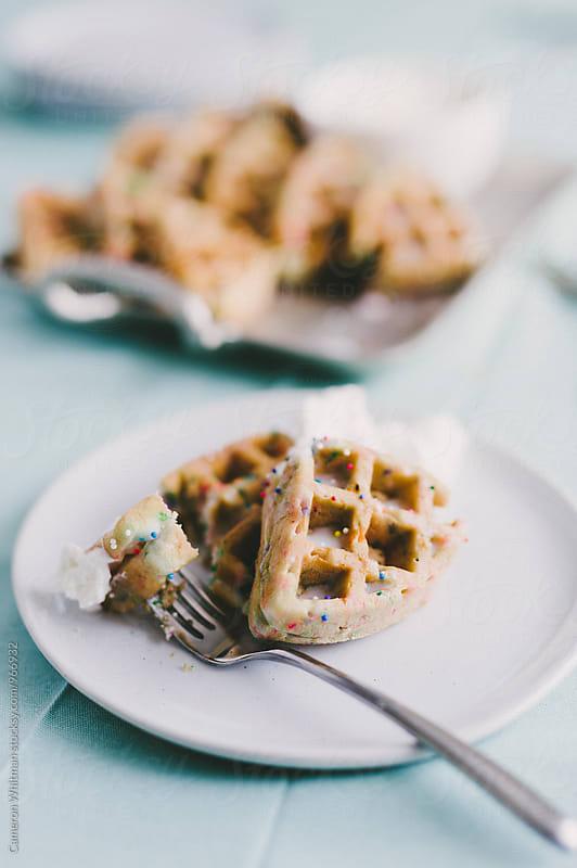 Funfetti Birthday Cake Waffles by Cameron Whitman for Stocksy United