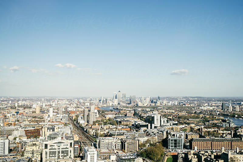East London Skyline by Agencia for Stocksy United