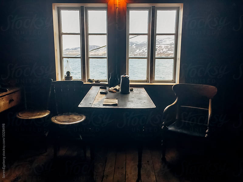 Interior of old icelandic house with wooden furniture by Soren Egeberg for Stocksy United