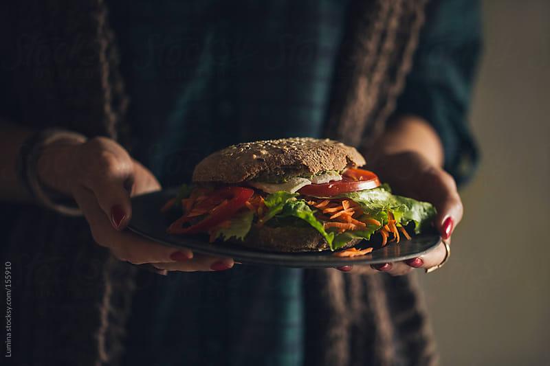 Veggie Burger by Lumina for Stocksy United
