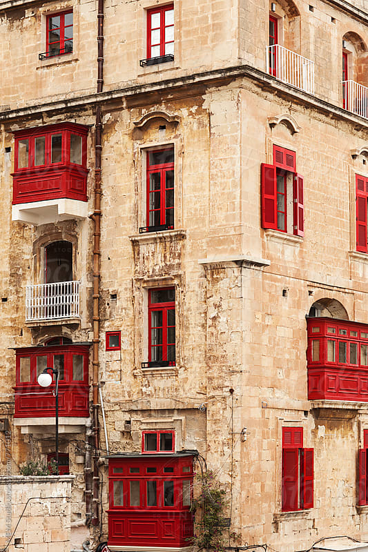 Ttraditional facade in Valletta, Malta by MEM Studio for Stocksy United