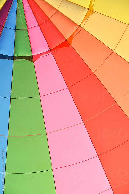 Colors of a hot air balloon by Bisual Studio for Stocksy United