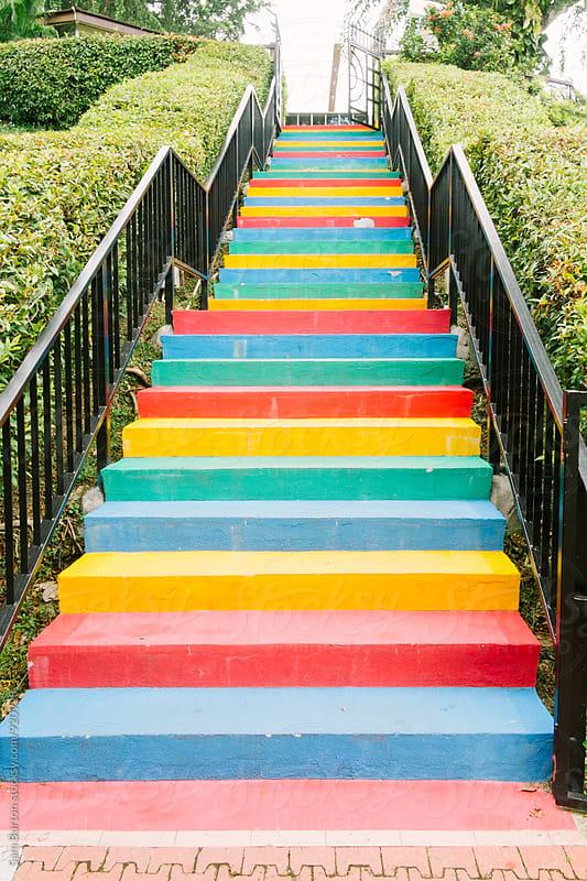 Rainbow steps by Sam Burton for Stocksy United