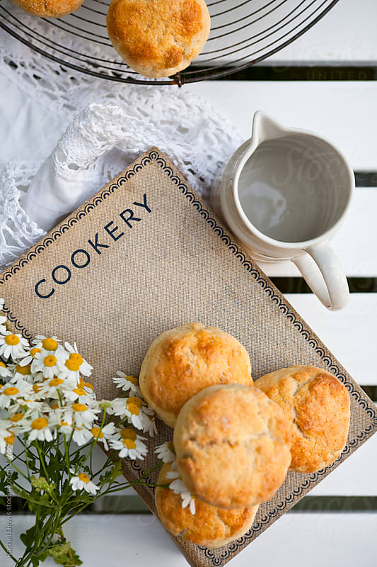 Scones on a summers afternoon. by Rachel Dewis for Stocksy United
