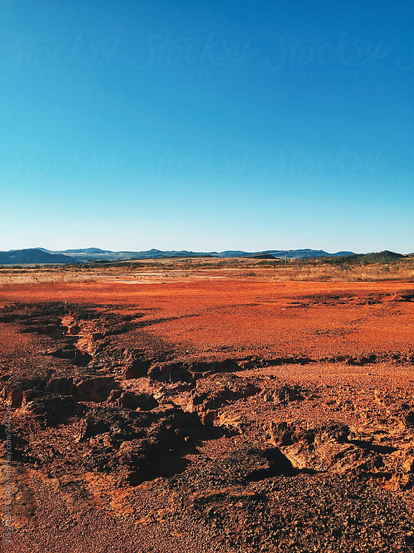 Red Barrren Soil in Wild National Park Landscape (Chapada dos Veadeiros, Brazil) by VISUALSPECTRUM for Stocksy United