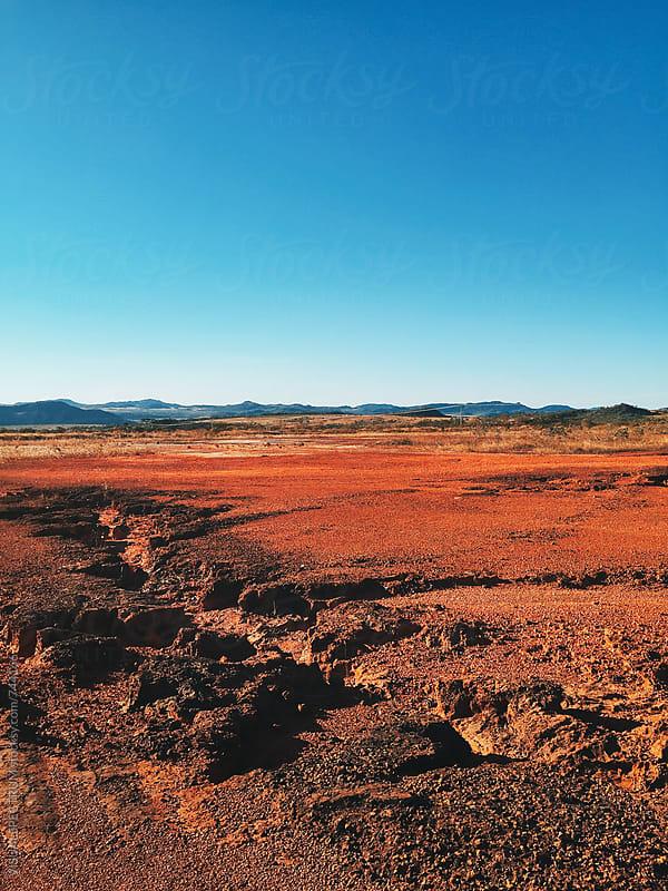 Red Barrren Soil in Wild National Park Landscape (Chapada dos Veadeiros, Brazil) by Julien L. Balmer for Stocksy United